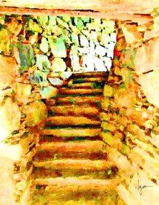 Dun Telve Stone Stairway
