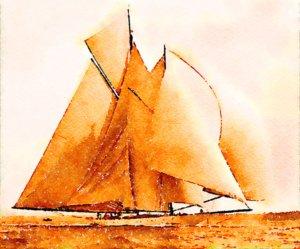 Mayflower Under Full Sail
